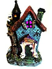 Haunted House LED Color Changing Lights Halloween Holiday Decor 7.5 inches Tall
