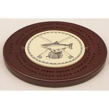 North Coast Trading Co - Oval Trout Cribbage Board