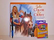 AMERICAN GIRL JULIE COLOR & CRAFT ACTIVITY CRAFT BOOK + 24 PACK CRAYONS & PENCIL