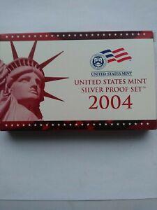 2004 US Mint Silver Proof Set, Coins & COA