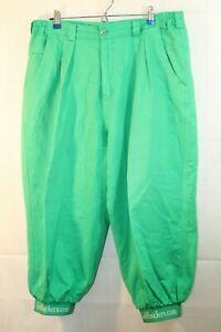 Par 4 Collection Golf Knickers Mens Green Pants Trousers Cotton Blend Size 38