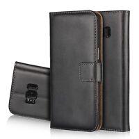 Housse Cuir fendu véritable Genuine Split Leather Case Samsung Galaxy S8 ou S8+