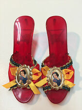 Disney Princess Snow White Red Plastic Slippers Shoes Girls Halloween Size 3-4