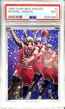 Michael Jordan 1995-96 Flair New Heights #4 PSA 9 MINT Bulls Red Jersey 4 of 10