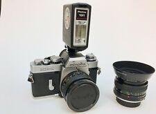 Minolta XE-1 Photax Flash 35mm 2.8 and 50mm 1.7 Lens