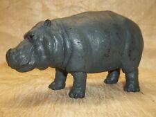 "Hippopotamus Hippo Animal Pvc Resin Figurine Figure Dark Gray 6"" x 3"""