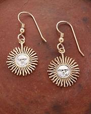 "Sun Face Earrings, Argentina Coin Hand Cut, 5/8"" in Diameter, ( # 2E )"