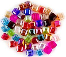 12mm für Facettierten Rondell Kristall Glas Perlen Einzelne Abstand 4mm