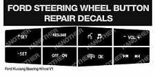 Replacement Steering Wheel Control Button Stickers For 2010-2012 Ford Mustang