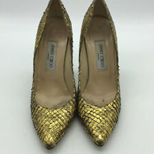 Jimmy Choo Metallic Gold Pointed Toe Pumps Size 38.5/8.5