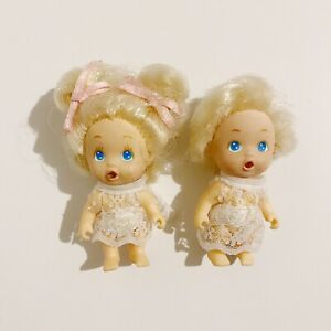2 x Toddlers Baby Figures 2.5in Small Toys Figures Lot