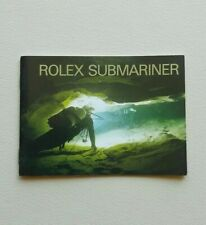 BOOKLET ORIGINALE ROLEX SUBMARINER ANNO 2002 ENG