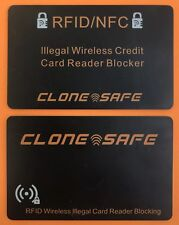 RFID & NFC Wireless Credit Card Illegal Reader Shield - Blocker By CLONE SAFE®️