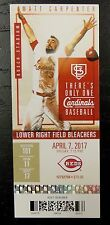 AMIR GARRETT CINCINNATI REDS MLB DEBUT GAME TICKET STUB 4/7/2017 UNUSED 6000123