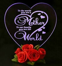 LED Light Mothers Day Gift for Mom Mother Heart Love Souvenir Birthday Present