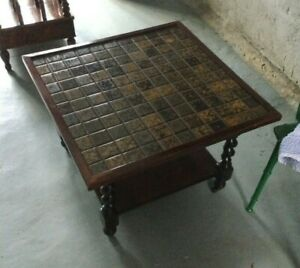COFFEE TABLE WITH DRAWER/ WOODEN ON WHEELS