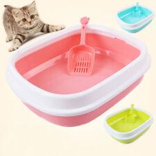 Kitty Kitten Cat Litter Tray Oval Suttle Quality Box Pan Toilet Lightweight