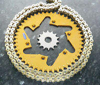 YAMAHA YZF250 CHAIN & SPROCKET KIT YZ250F 47T GOLD REAR 13T FRONT YZF 250 01- 11