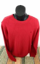 IZOD Men's Red  Crew Neck Pullover Sweater