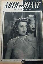 IRENE DUNNE en COUVERTURE de NOIR et BLANC No 103 de 1947 SHAW / CASCADE VOITURE