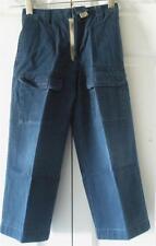 First Wave Boys Navy Blue Flat Front School Uniform Cotton Cargo Pants Size 4