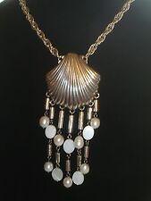"Brighton ""Malibu"" Chain Necklace Hanging Shell NWT Silver 16"" L Chain w/2"" Ext."