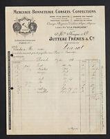 """PARIS (I°) MERCERIE """"AU MANTEAU D'OR / FOUQUE / JUTTEAU Freres Succ"""" en 1921"""