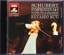 Riccardo MUTI: SCHUBERT Symphony No.3 & 5 Wiener Philharmoniker EMI CD 1989