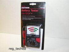 Sears Craftsman Battery Tester 82308 Universal 1.5v to 22.5v Heavy duty probes