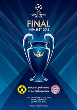 UEFA CHAMPIONS LEAGUE FINAL PROGRAMME 2013 Bayern Munich v Borussia Dortmund