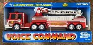 Buddy L Electronic Voices Lights Sounds Voice Command Fire Engine Truck 8200 NIB
