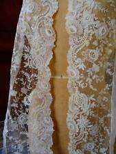 A Stunning Length Antique Brussels Point De Gaze ~Bridal ~ C1890