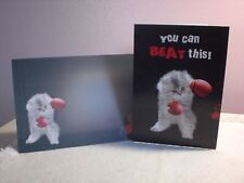 Tree-Free - Get Well Card - A beautiful kitten w/boxing gloves on the cover