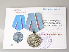 Original UdSSR Orden Medaille mit Urkunde die Militärluftkräfte WDW