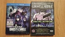 3 disc DVD / Blu ray lot Ghost In The Shell 2016 The New Movie + Original Anime