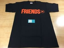VLONE x fragment design FRIENDS Short Sleeve Tee Shirt Sz Medium Black Orange