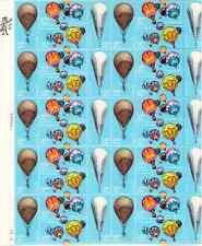 Scott #2032/5... 20 Cent... Hot Air Ballooning... Sheet of 40
