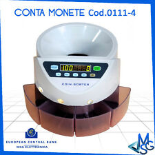 MACCHINA CONTAMONETE  4 TAGLI CONTA CONTATORE MONETE DIVIDE EURO SOLDI