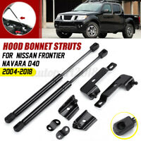 Front Hood Bonnet Gas Strut Lift Support For Nissan Frontier Navara D40  .-