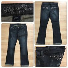 Request Jeans Distressed Studs Size 5/27 Roll-Up Inseam 31