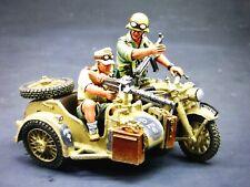 king & country 54mm ww2 German Afrika Korp Motorcycle combo 2007 AK035 mib oop