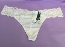 Ladies White Thongs Knickers Panties Lace Bandeau Size 22 Marks & Spencer