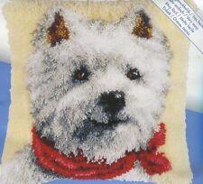Knüpfpackung Knüpfkissen Westie Westy West Highland Terrier Hund Dog 40x40 cm