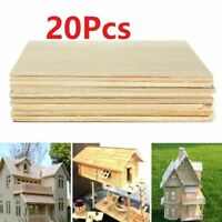 20pcs Balsa Wood Sheets Wooden Plate 100x100x1mm For House Ship Craft Model DIY
