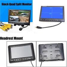 "9 ""TFT 4 Split Screen Auto Dash Kopfstütze Rearview Reverse Monitor + Halterung"