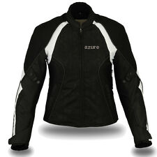Women Motorbike Motorcycle Waterproof Textile Jacket SLIM FIT, BW - L (Size-10)
