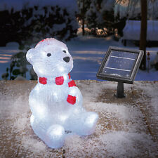 Solar Leuchtbär Winterdekoration Weihnachtsdeko Außenbeleuchtung, esotec 102123