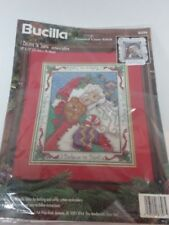 Bucilla Counted Cross Stitch I Believe in Santa #8339 Pillow or Picture