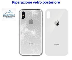 SERVIZIO RAPIDO RIPARAZIONE VETRO POSTERIORE IPHONE 8 Plus X XS XR 11 Pro Max