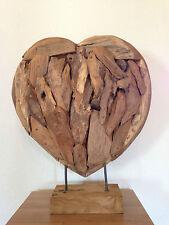 HERZ 60CM HEART TEAKHOLZ DEKO EINRICHTUNG HERZ AUS HOLZ LIEBE LOVE HOLZHERZ